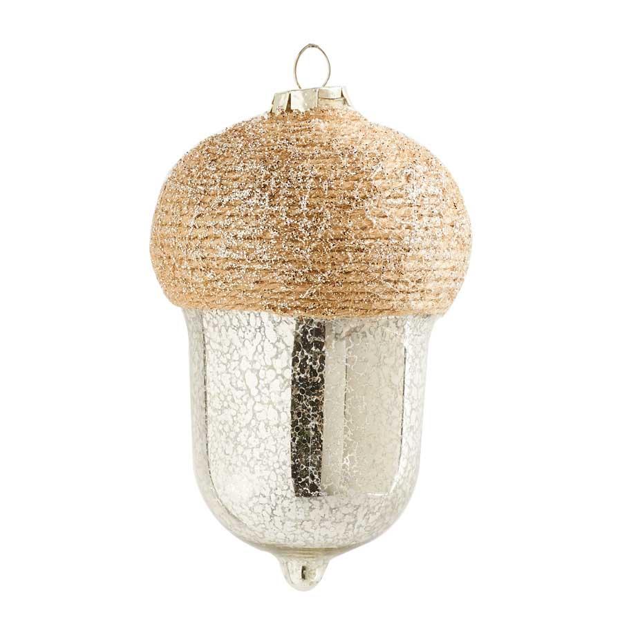 6 mercury glass acorn ornament for Home ornaments